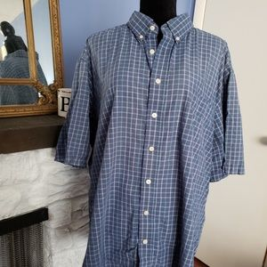 🍒5 for$10Puritan blue short sleeve shirt. Mens 2X